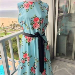 Tiffany Blue Sleeveless A-line Classic Dress